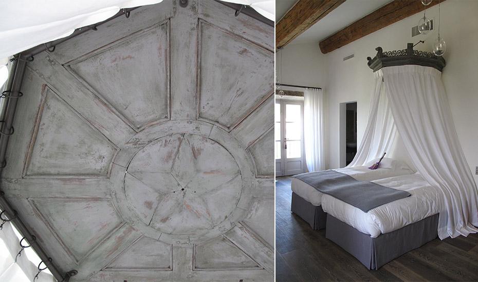 Ciel de lit en voile de lin